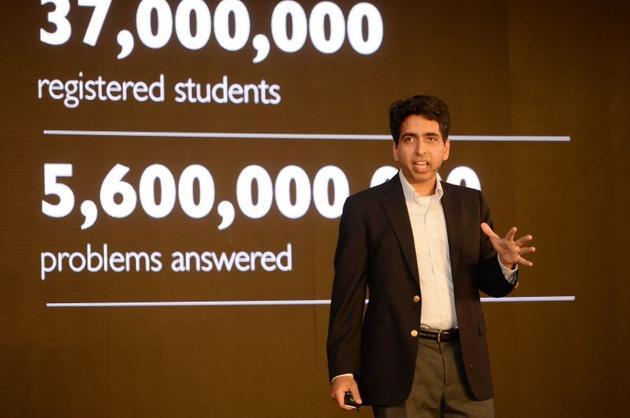 可汗学院创始人萨尔曼·可汗:网上课堂不能代替实体课堂