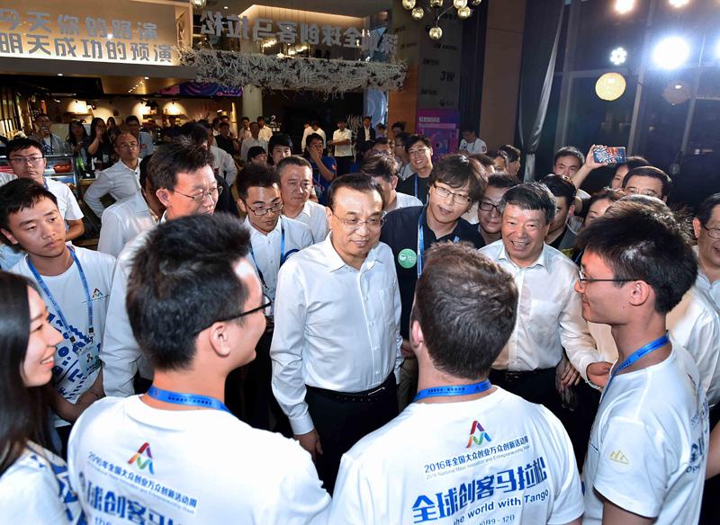 """李克强深耕""""双创生态系统"""":中国正成全球创客天堂"""