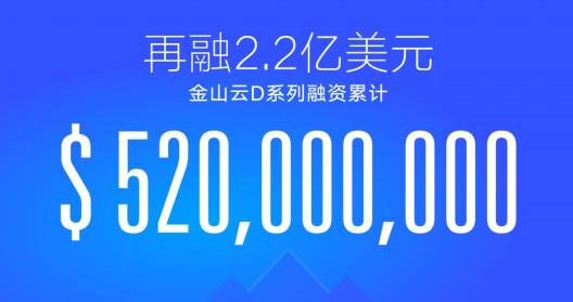 再融2.2亿,金山云D创中国云行业融资额新高!